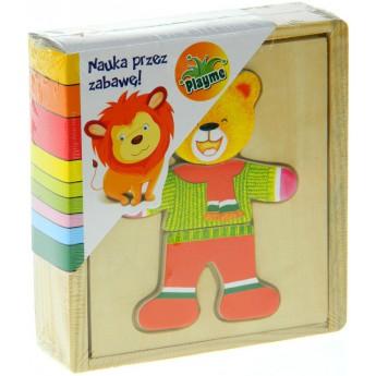 Puzzle - Puzzle šatní skříň - medvěd
