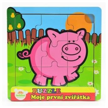 Puzzle - Puzzle mini Moje první zvířátka - Prasátko