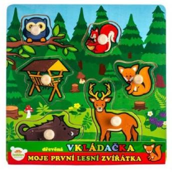 Puzzle - Vkládačka dřevěná Moje první lesní zvířátka