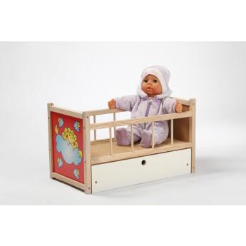 Postýlka pro panenky s přebalovacím pultem