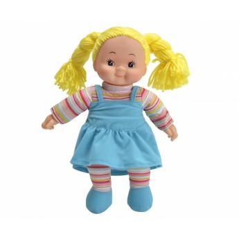 Pro holky - Panenka Cheeky látková 38 cm modré šaty