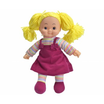 Pro holky - Panenka Cheeky látková 38 cm bordó šaty
