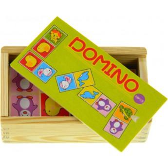 Hry a hlavolamy - Dřevěné domino Zvířátka
