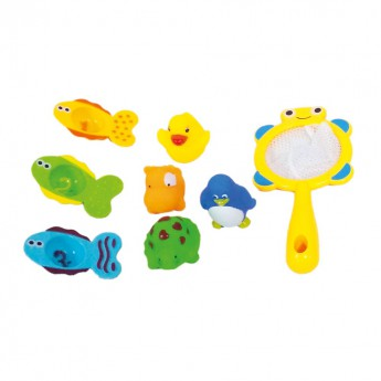 Hračky do vody - Sada hraček do vany se sít'kou