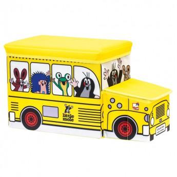 Dětský pokojíček - Krteček krabice na hračky autobus