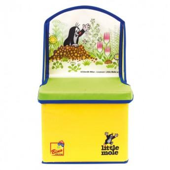 Krteček krabice na hračky židlička žlutá