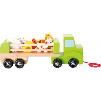 Pro kluky - Dřevěný transportér se zvířaty