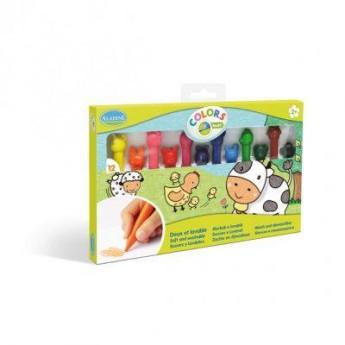 Výtvarné a kreativní hračky - Veselé voskovky se zvířátky, sada 12 ks
