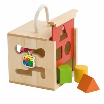 """Motorické a didaktické hračky - Vkládací krabička, počítadlo, labyrint s motivem """"Mašinka"""""""
