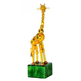 Motorické a didaktické hračky - Mačkací figurka Žirafa Johana