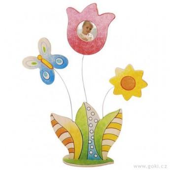 Výtvarné a kreativní hračky - Kytice – rámeček na fotku k vymalování