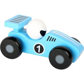 Pro kluky - Dřevěné závodnické autíčko - modré