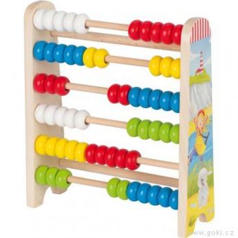 Školní potřeby - Počítadlo se 60 dřevěnými perličkami – Peggy Diggledey