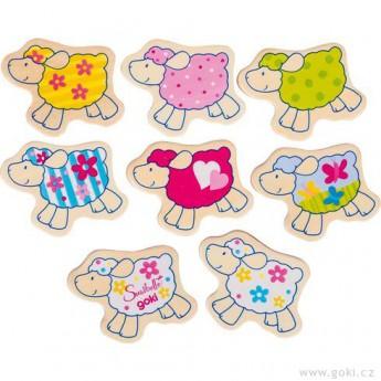 Hry a hlavolamy - Pexeso ovečky, 32 díly