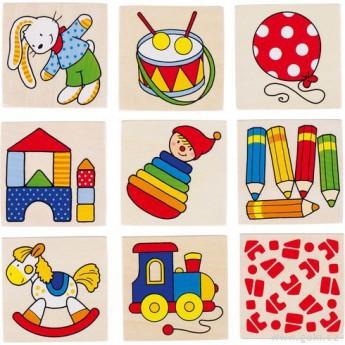 Hry a hlavolamy - Obrázkové pexeso hračky, 16 dílů
