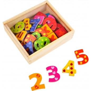 Školní potřeby - Magnetky dřevěné číslice 40 ks