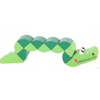 Pro nejmenší - Hračka do ruky - Krokodýl