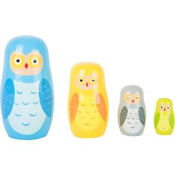 Motorické a didaktické hračky - Matrioška - Soví rodina