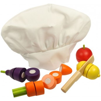 Pro holky - Dřevěná krájecí zelenina s čepicí