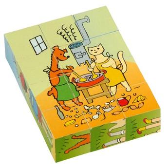Kostky a stavebnice - Kostky Pejsek a Kočička 12 ks