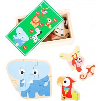 Puzzle - Puzzle v krabičce - Zoo