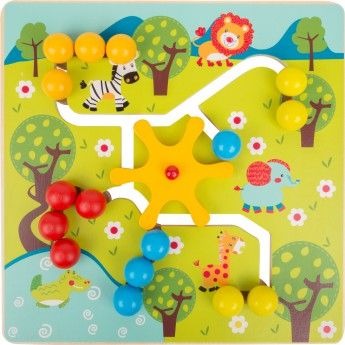 Motorické a didaktické hračky - Posuvné puzzle - Savana