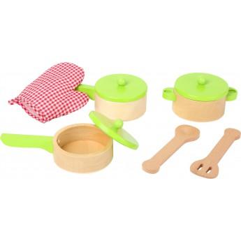 Dřevěná sada nádobí