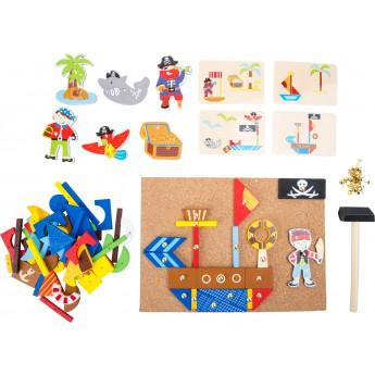 Motorické a didaktické hračky - Dřevěná kreativní hra Piráti