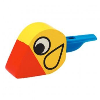 Dětské hudební nástroje - Dřevěná flétna ptáček žlutý