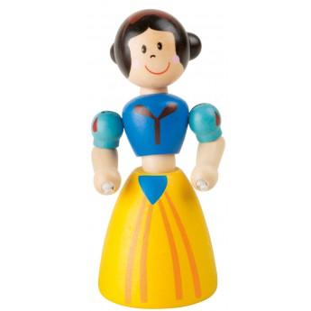 Dřevěná hračka do ruky Princezna - žluté šaty