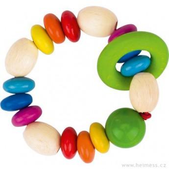Pro nejmenší - Duhové perličky – hračka do ruky pro miminka