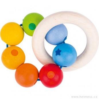 Pro nejmenší - Duha dva kruhy – dřevěná hračka pro miminka