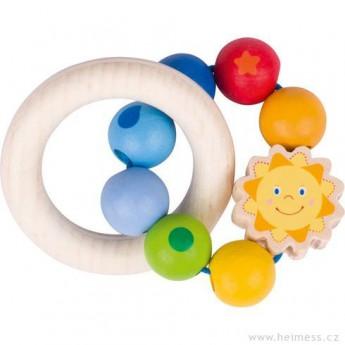 Sluníčko – dřevěná hračka pro miminka