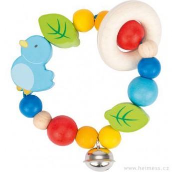 Pro nejmenší - Ptáček – elastická hračka pro miminka
