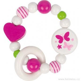 Pro nejmenší - Kroužek do ruky – bílá a růžová