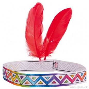 Výtvarné a kreativní hračky - Indiánská čelenka k vymalování