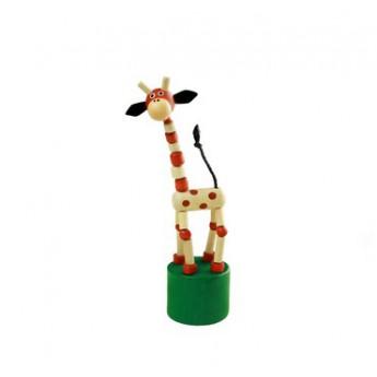 Motorické a didaktické hračky - Mačkací figurka Žirafa přírodní