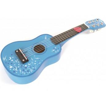 Dětské hudební nástroje - Dřevěná kytara Star modrá