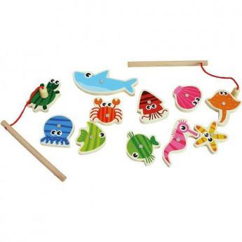 Motorické a didaktické hračky - Magnetický rybolov Moře