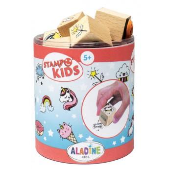 Výtvarné a kreativní hračky - Dětská razítka - Jednorožci