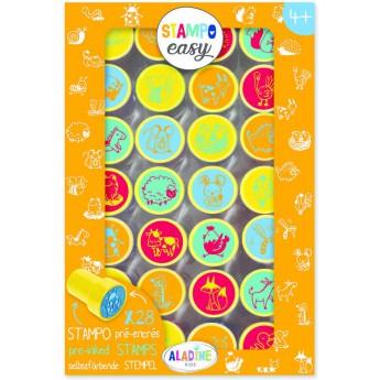 Výtvarné a kreativní hračky - Samonamáčecí razítka StampoEasy, zvířata z farmy