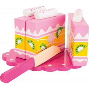 Pro holky - Růžový dort ke krájení