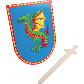 Dračí štít s mečem