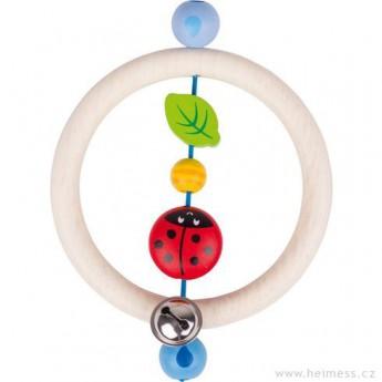 Pro nejmenší - Dřevěný kroužek beruška