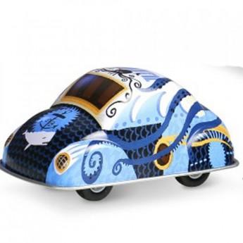 Pro kluky - Veselé kovové autíčko - modré