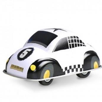 Veselé kovové autíčko - bílé
