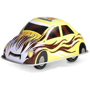 Pro kluky - Veselé kovové autíčko - žluté
