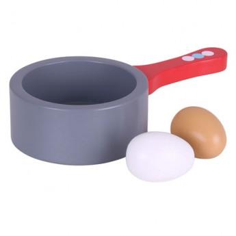 Pro holky - Dřevěné hračky - Pánev a vejce