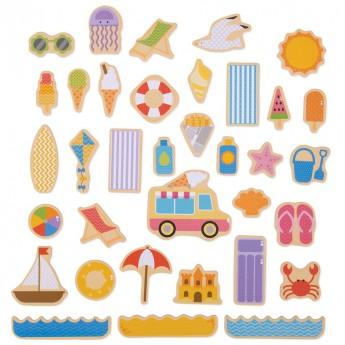 Magnetky - Prázdniny u moře 35 ks
