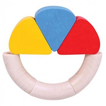 Pro nejmenší - Dřevěná hračka První dotykový kroužek